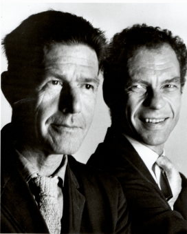 Merce Cunningham and John Cage, photo by Hans Wild, 1964